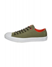 Converse Chuck Taylor All Star Ii Sneakers Laag Fatigue Green/signal Red afbeelding