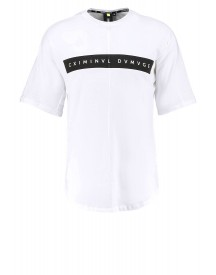 Criminal Damage Mac Tshirt Print White/black afbeelding
