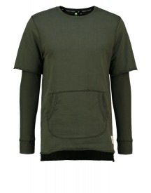 Criminal Damage Orda Sweater Olive afbeelding