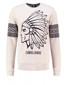 Criminal Damage Sweater Light Nude/black afbeelding