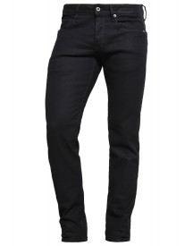 Gstar 3301 Low Tapered Straight Leg Jeans Black Pintt Stretch Denim afbeelding