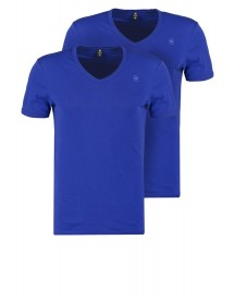 Gstar Base V T S/s 2pack Tshirt Basic Bright Prince Blue afbeelding
