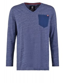 Gstar Riban Pocket V T L Regular Fit Longsleeve Sapphire Blue Heather afbeelding