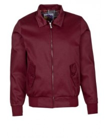 Harrington Korte Jassen Bordeaux afbeelding