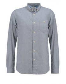 Knowledge Cotton Apparel Slim Fit Casual Overhemd Light Grey afbeelding