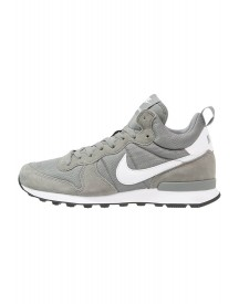 Nike Sportswear Internationalist Sneakers Hoog Tumbled Grey/white/total Orange/black afbeelding