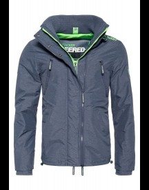 Superdry Jas Light Navy Marl/fluro Green afbeelding