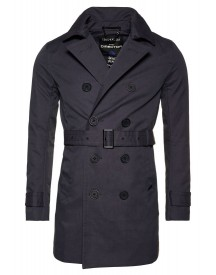 Superdry Trenchcoat Charcoal afbeelding