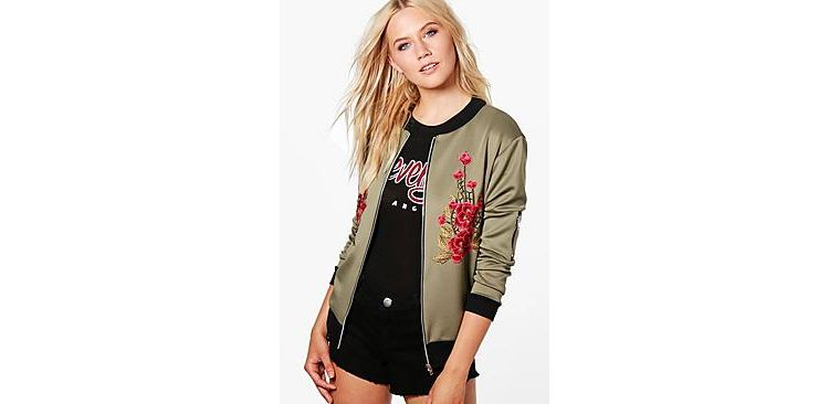 Image Alicia Floral Applique Bomber
