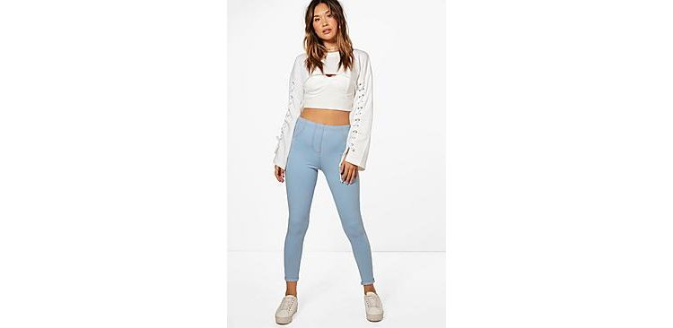 Image Amelle Turn Up Pocket Back Jeggings