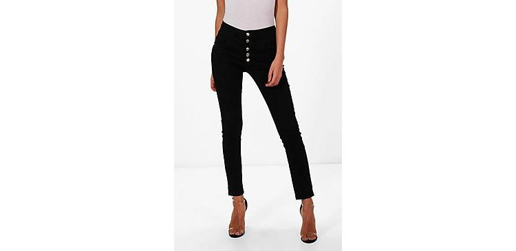 Image Holly 5 Button Ultra High Waist Skinny Jeans