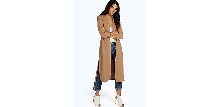 Image Isabella Turn Up Cuff Duster Coat