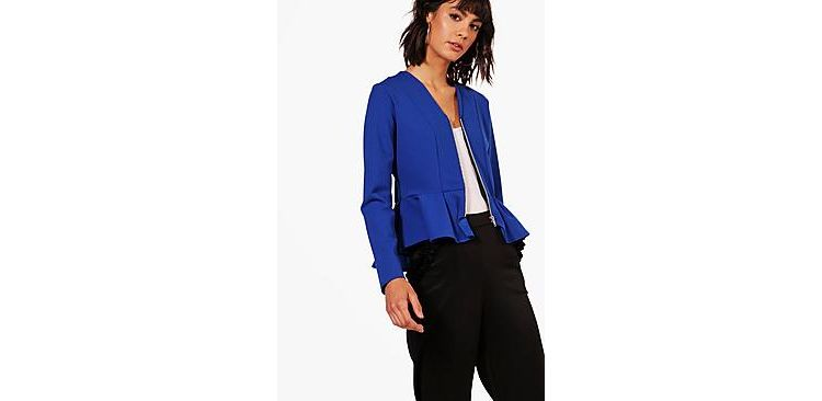 Image Katie Zip Up Peplum Jacket