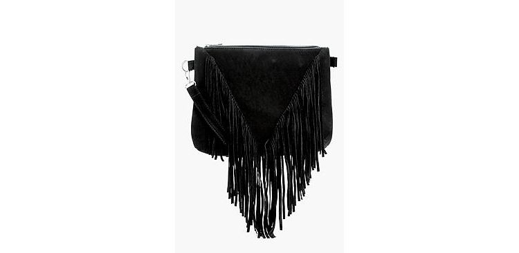 Image Kelly Suedette Fringed Cross Body