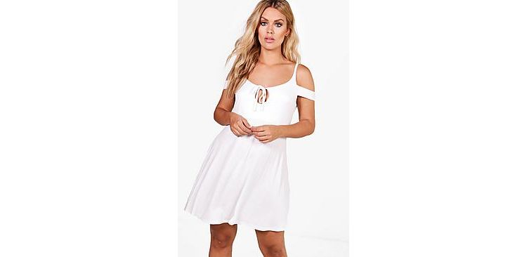 Image Plus Holly Cold Shoulder Mini Sundress