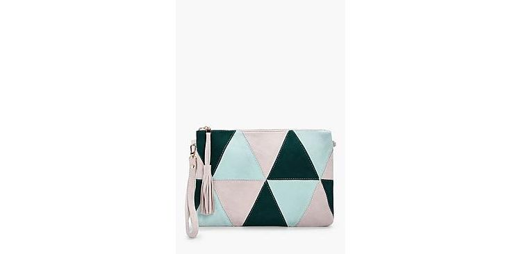 Image Poppy Suedette Patchwork Cross Body