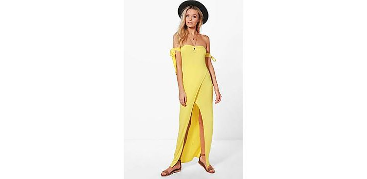 Image Raquel Bandeau Split Front Maxi Dress
