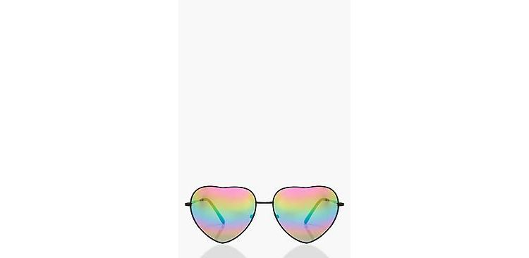 Image Rosie Heart Shaped Mirrored Lens Sunglasses