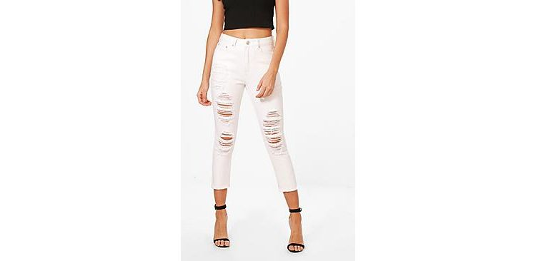 Image Runa Cropped Tapered Ankle Mom Jeans