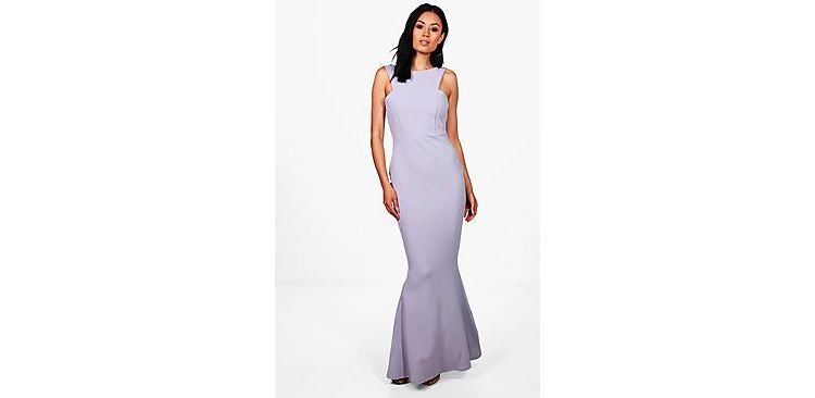 Image Sena Cutaway Neckline Fishtail Maxi Dress