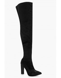 Aimee Satin Over The Knee Boot afbeelding