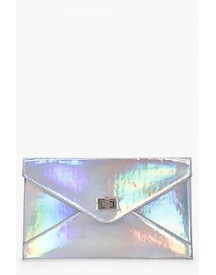 Alex Holographic Envelope Clutch afbeelding