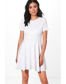 Alice Scallop Detail Skater Dress afbeelding