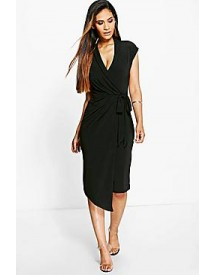 Alice Wrap Front Midi Dress afbeelding