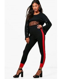 Alina Contrast Ankle Crepe Sports Leggings afbeelding