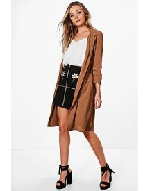 Alison Woven Belted Pocket Duster afbeelding