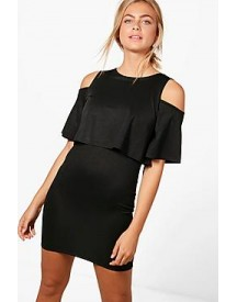Amanda Cold Shoulder Double Layer Dress afbeelding