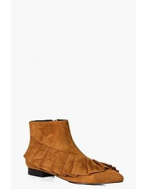 Amelia Frilled Pointed Ankle Boot afbeelding
