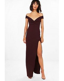 Amie Wrap Top Off Shoulder Maxi Dress afbeelding