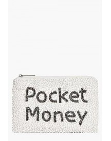 Anna Pocket Money Slogan Embellished Purse afbeelding