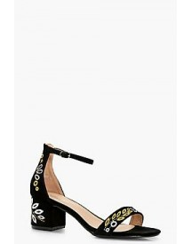Annabelle Embroidered Low Block Heel 2 Parts afbeelding