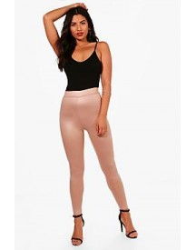 Ava Wet Look High Waist Leggings afbeelding
