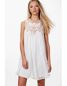 Beatrice Crochet Lace Swing Dress afbeelding