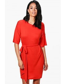Becky Tie Waist Shift Dress afbeelding