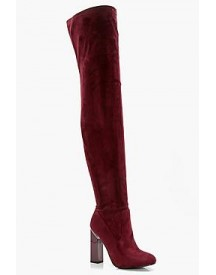 Bethany Block Gloss Heel Over The Knee Boot afbeelding