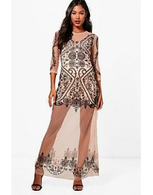 Boutique Kasey Embroidered Maxi Dress afbeelding