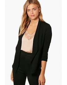 Brooke Ruched Sleeve Shawl Collar Blazer afbeelding