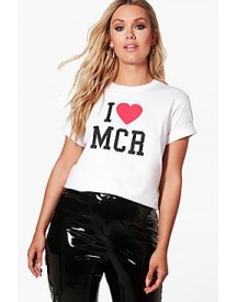 Charity Plus 'i Heart Manchester' T Shirt afbeelding