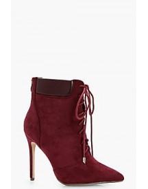 Clara Lace Up Pointed Stiletto Hiker Boot afbeelding
