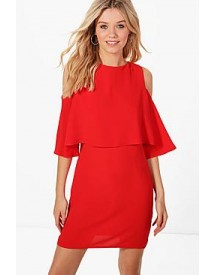 Diane Cold Shoulder Double Layer Dress afbeelding