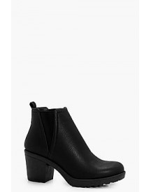 Ella Chunky Cleated V Detail Chelsea Boot afbeelding