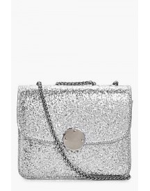 Ella Sequin Metal Clasp Cross Body Bag afbeelding