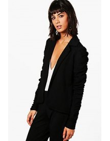 Emily Ruched Sleeve Blazer afbeelding