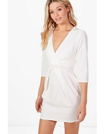 Erin Wrap Over Tailored Dress afbeelding