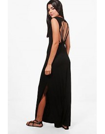 Eve Caged Back Maxi Dress afbeelding