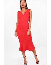 Farah Strappy Frill Hem Midi Dress afbeelding